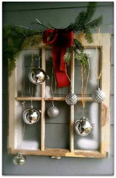 Recycled window turned into Christmas vision♡