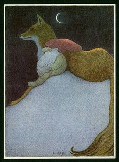 Lennart Helje - Fox and Gnome Fuchs Illustration, Children's Book Illustration, Yule, Fox Art, Fairy Art, Scandinavian Christmas, Magical Creatures, Whimsical Art, Christmas Art