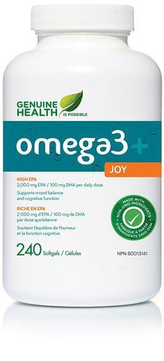 omega3+ joy 240 Softgels Genuine Health - triple fish oil: Amazon.ca: Health & Personal Care