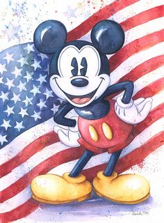 "If he could, I'm sure Mickey would sing, ""I'm an American Mouse!"""