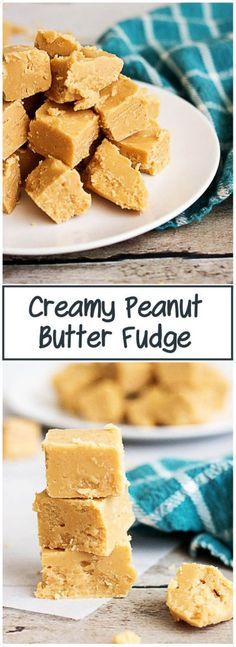 Creamy Peanut Butter Fudge is perfectly silky, smooth and makes a great bite-sized dessert. It's quick, simple and only has 3 ingredients. via @berlyskitchen