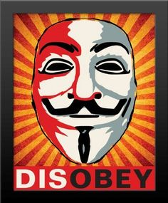 Framed Disobey Occupy Anonymous Print High Quality Black Wood Buy It Hang It Poster Prints, Framed Prints, Art Prints, Anonymous Mask, 16x20 Frame, Guy Fawkes, Graffiti, Photos, Wall Art