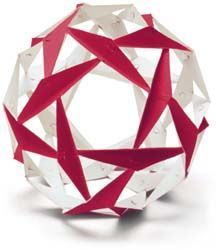 A Synergy Ball is a model of a tensegrity sphere, which is the basis for much of the geometry of geodesic domes.