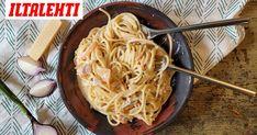 Pasta Carbonara, Spaghetti, Ethnic Recipes, Food, Noodles, Essen, Meals, Yemek, Noodle
