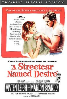 A Streetcar Named Desire [PN1995.9.M27 S774 2006] Set in the French Quarter of New Orleans during the restless years following WWII, this is a story of Blanche DuBois, a fragile and neurotic woman on a desperate prowl for someplace in the world to call her own.