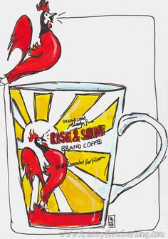 Tracey Fletcher King ... watercolour and ink... mug from Leslie Armstrong