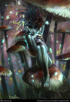 Earth faerie Mushroom (c) Guo Jian, submitted 27 September 2006