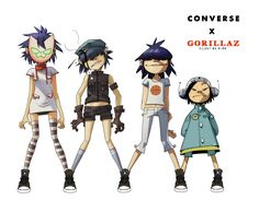 (Right to left) Noodle, noodle, cyborg noodle, bad bass noodle!!!