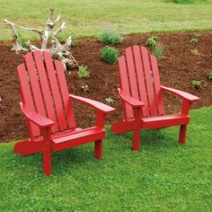 Outdoor A & L Furniture Yellow Pine Kennebunkport Adirondack Chair Redwood - 661-RS REDWOOD STAIN