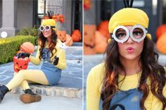 4 easy DIY Halloween costumes -- I like the minion and the hipster princess. Maybe even the creepy doll? LOL
