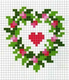 Herz mit kleinen Glas oder Bügel-Perlen
