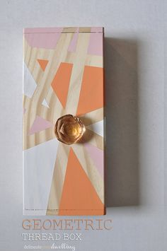 So cool — use an old glass doorknob to DIY this pretty geometric box.