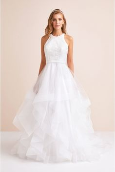 ed58c0aa Affordable Wedding Dresses Online. Floral Sequin Tiered Plus Size Wedding  Dress-9v3901