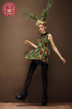 Women's Baroque Pattern Rhinestone Sleeveless Dress