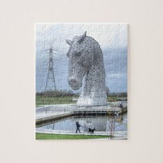 Shop the Kelpies , Falkirk Jigsaw Puzzle created by photogold. Barrel Racing Saddles, Barrel Racing Horses, Horse Saddles, Horse Halters, Clydesdale Horses, Breyer Horses, Jigsaw Gifts, Show Horses, Race Horses