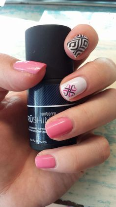Lava Lamp, Jamberry logo and Flirt Lacquer with TruShine.