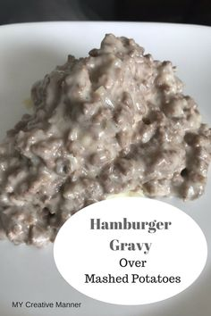 Hamburger Gravy Over Mashed Potatoes mycreativemanner recipe hamburgergravy creamofmushroomsoup dinnerrecipes groundbeef schoolhouse easydinner gravy dinnertime 386887424236651440 Hamburger Sauce, Hamburger Gravy Recipe, Beef Gravy, Hamburger Recipes, Ground Beef Recipes, Ground Chuck Recipes Dinners, Sos Recipe Ground Beef, Hamburger Casserole, Chicken Casserole