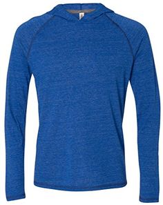 Mens TriBlend Lightweight Hoody 2XL Royal Heather Triblend ** See this great product by click affiliate link Amazon.com