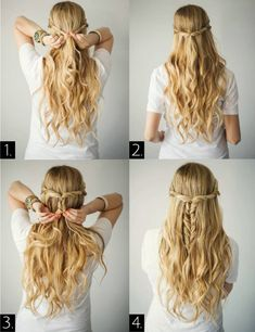Hair Styles For School 20 Easy 5 Minute Hairstyles Whether you& running late for school/work or. Easy Hairstyles For Medium Hair, Easy Hairstyles For Long Hair, Box Braids Hairstyles, Braids For Long Hair, Latest Hairstyles, Hairstyle Ideas, Step Hairstyle, Pretty Hairstyles, Running Late Hairstyles