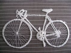 bike embroidery. by Laura Hartrich, via Flickr