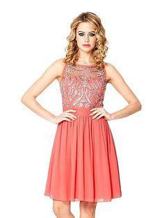 Chiffon sequin embellished dress
