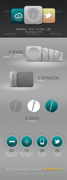 Minimal iOs7 Icons Lab
