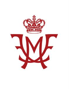 The beautiful monogram for Crown Prince Frederik & Crown Princess Mary, the Crown Princely couple of Denmark