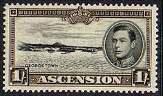 Ascension 1938 George VI SG 44 Fine Mint SG 44a Scott 46 George Town Other Ascension Island Stamps HERE