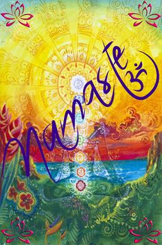 New Yoga Art Namaste Spiritual Ideas Yoga Inspiration, Painting Inspiration, Yoga Studio Design, Mantra, Yoga Kunst, Om Art, Meditation Art, Namaste Yoga, Hippie Art