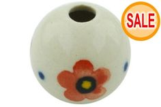 This Polish Pottery Stoneware Bead - 2107 is handmade and handpainted by the Ceramika Artystyczna factory. Polish Pottery, Pottery Art, Poland, Stoneware, Hand Painted, Beads, Handmade, Products, Beading