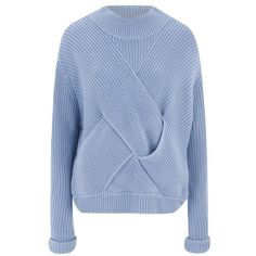 C/Meo Collective Women's Shake it Off Jumper - Sky Blue ($175) ❤ liked on Polyvore featuring tops, sweaters, blue, long sleeve jumper, jumper top, sweater pullover, blue jumper and blue sweater