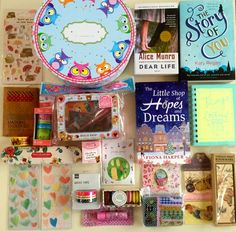 Lavender likes, loves, finds and dreams: 1st Blog Anniversary Giveaway 4: Books, Bookmarks, Stickers, Stationery and Beauty Items!