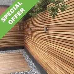 Fence Slats, Slatted Fence Panels, Decking Fence, Wooden Fence Panels, Wooden Fences, Contemporary Fence Panels, Western Red Cedar Cladding, Cedar Wood Fence, Larch Cladding