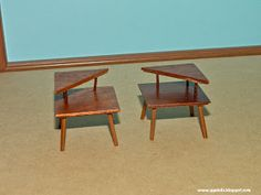 ggsdolls: Amazing Mid Century Modern End Tables by Minisx2!!