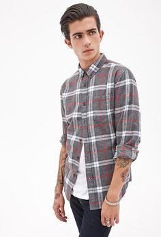 Plaid Flannel Shirt #21Men