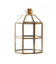 Terrain Brass Windowpane Lantern