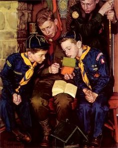 Norman Rockwell Boy Scouts | Norman Rockwell -boy scouts