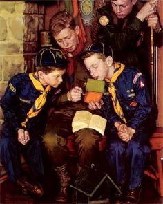 Norman Rockwell Boy Scouts   Norman Rockwell -boy scouts