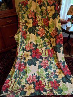 Vintage Bark Cloth Curtain Drape Panel66 by PleasantDaysVintage
