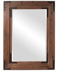 This Caldwell Wood Mirror would be the prefect wall decor in the right room.