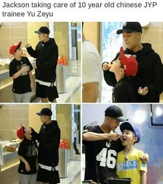 Jackson with JYP new Chinese trainee. So cuteee