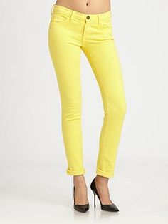 Hardly mellow yellow....Current/Elliott - The Rolled Skinny Jeans