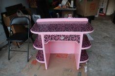 My Mod Podge Pink DeskHalf Past Nine | Half Past Nine