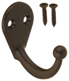 Stanley Hardware CD4025 Single Prong Robe Hook in Oil Rubbed Bronze - Bathroom Hooks - Amazon.com