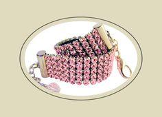 Swarovski Crystal Dog Collar/Necklace  - Light Rose 5 Rows