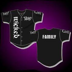 hatchetmna sweatpants   Baseball Jersey Twiztid Family Black