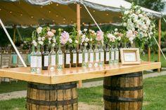DIY Wine Bottle Wedding Seating Chart l June Bug Weddings