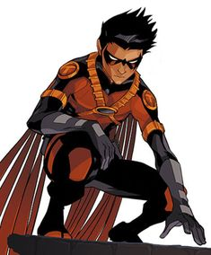 At the age of nine, Tim Drake cleverly deduced the identities of Batman and Robin. Four years later, after the death of Jason Todd, Tim convinced Batman that he should be the new Robin. Eventually resigning as Robin, he is now Red Robin, the leader of the Teen Titans.