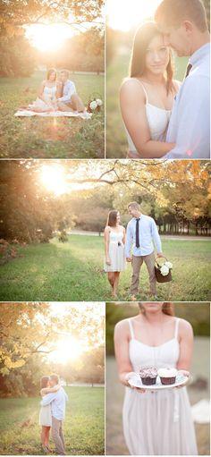 gorgeous engagement photo setting