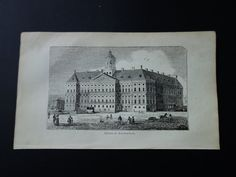 Amsterdam Damsquare royal  palace 1839 small by DecorativePrints